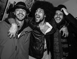 A few Frotations from Left to Right: Vinicius Da Silva (Guitar), Chris Kazarian ( Lead Vocals), Joao Noguiera ( Keys)